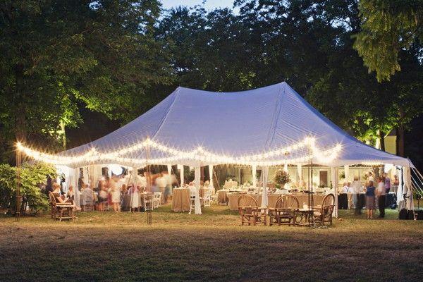 Outdoor Tent Wedding Reception Lights Colorado 10 Photo