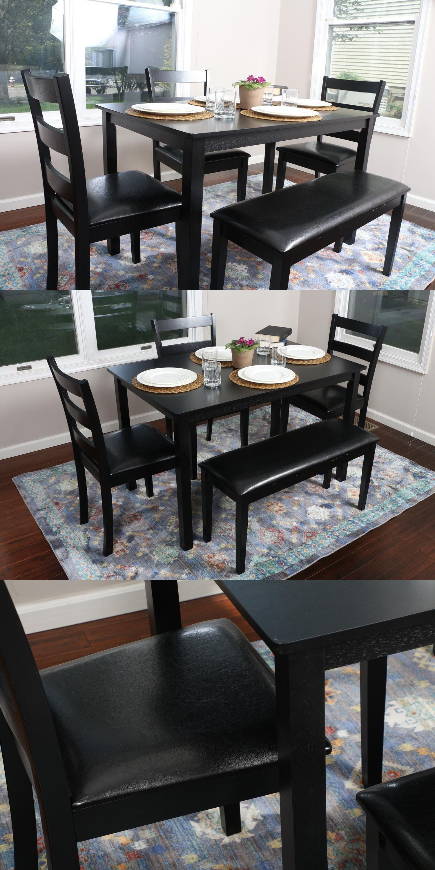 Dining Sets 107578 5 Piece Kitchen Dining Table Set Bench
