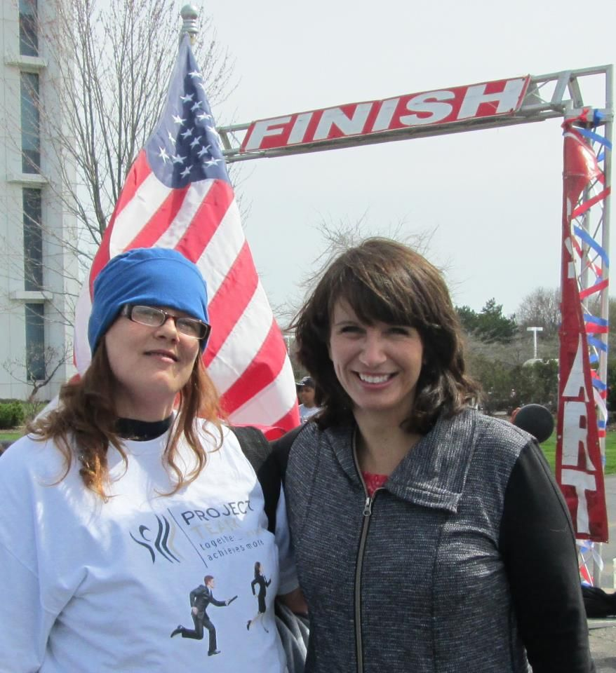 Cami Rapson WBAY-2 News and I at the Human Race May 2013 | Wonderful