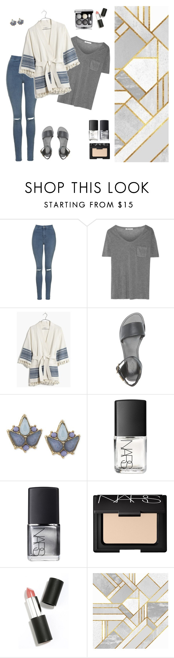 """"" by raachyrach ❤ liked on Polyvore featuring Topshop, T By Alexander Wang, Madewell, Charlotte Russe, Carolee, NARS Cosmetics and Sigma Beauty"