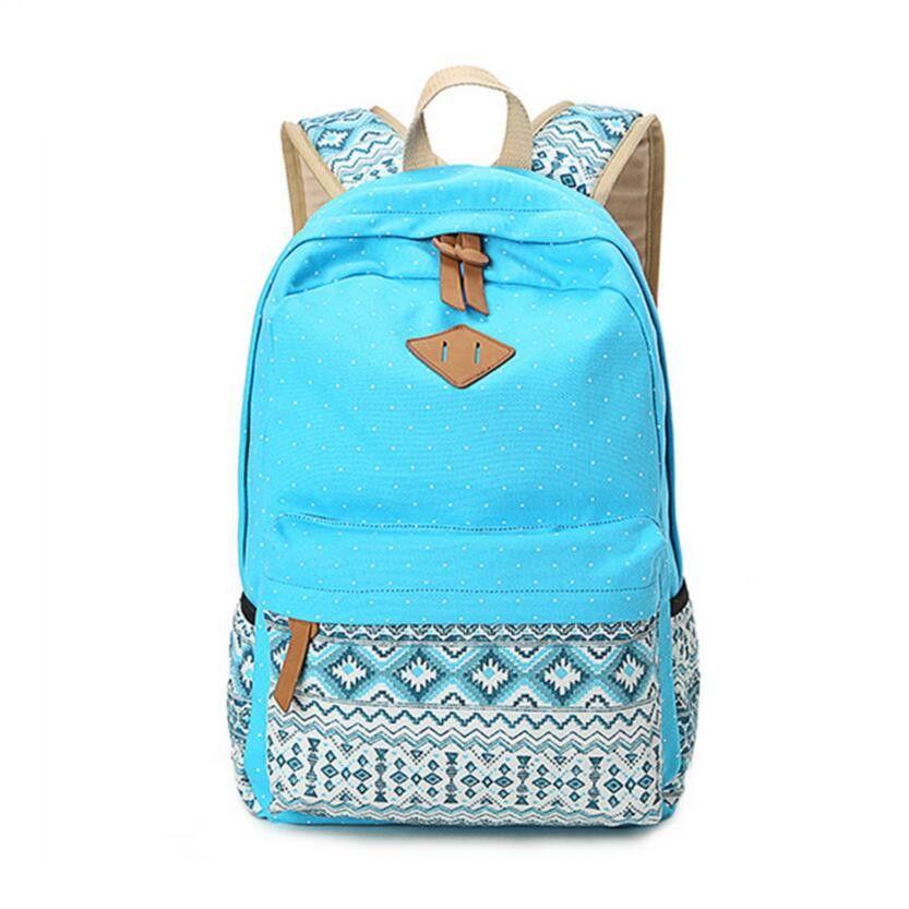 d88e803e46 Vintage Girls School Bags for Teenagers girl Schoolbag Canvas Bag women  travel bags printing School Backpack Rucksack Bagpack