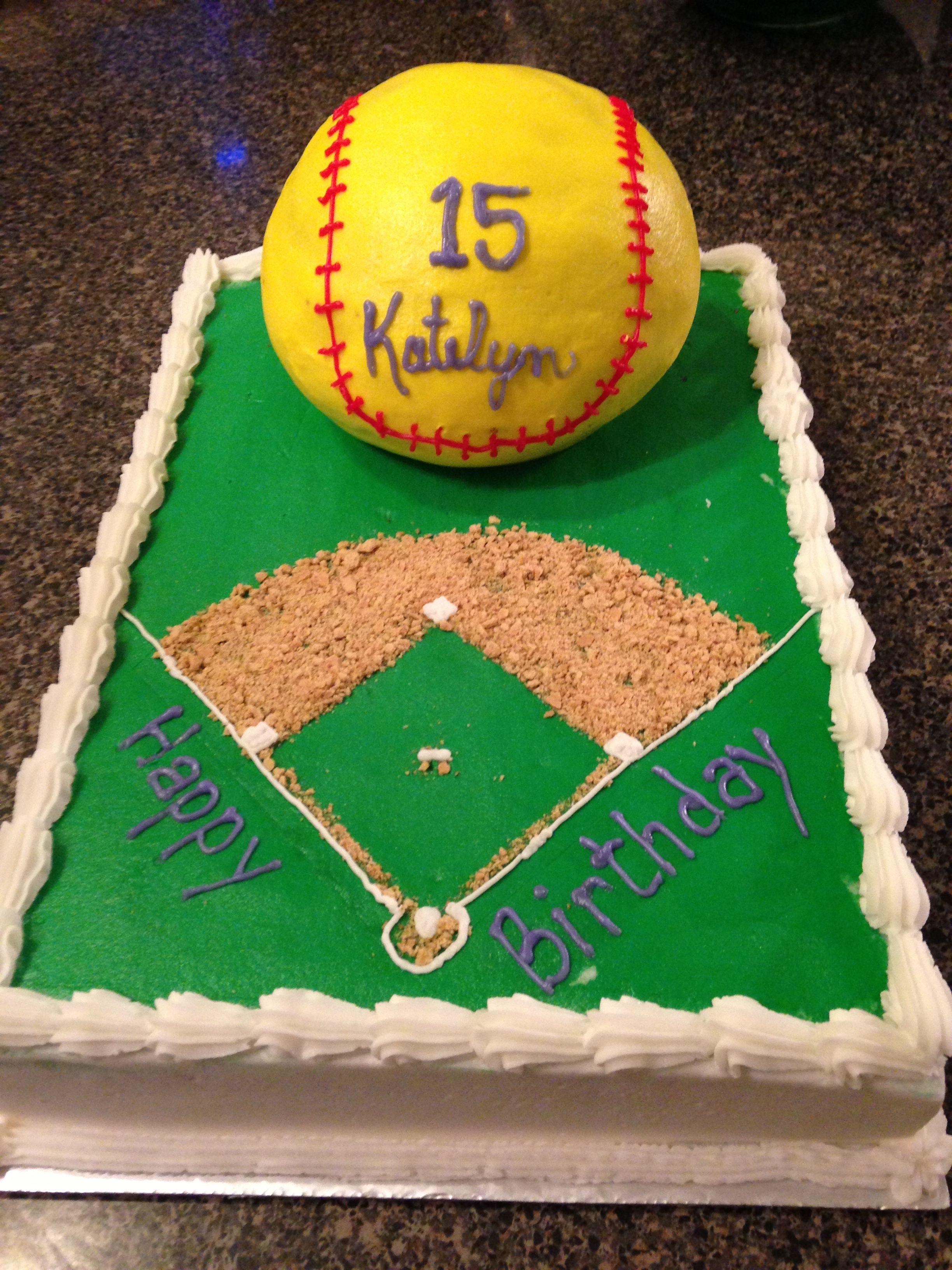 Brilliant Softball Cake 8 9 13 Softball Birthday Cakes Birthday Cake Personalised Birthday Cards Paralily Jamesorg