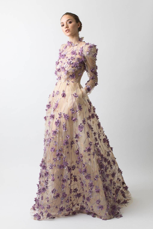 Wedding alternative dresses purple