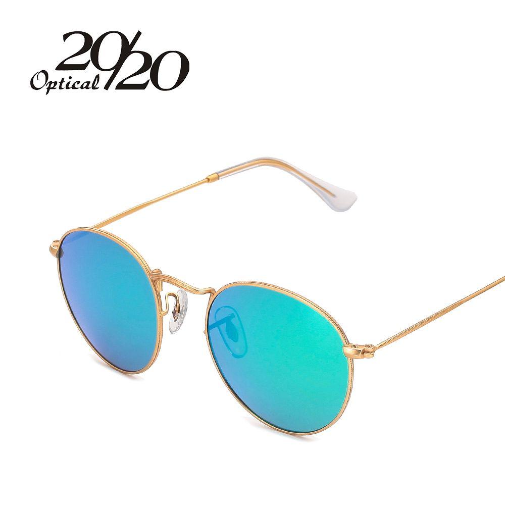 0c071b3f3103d Barato 20 20 Marca Designer Mulheres Óculos De Sol Redondos Homens Moda  óculos Polarizados óculos