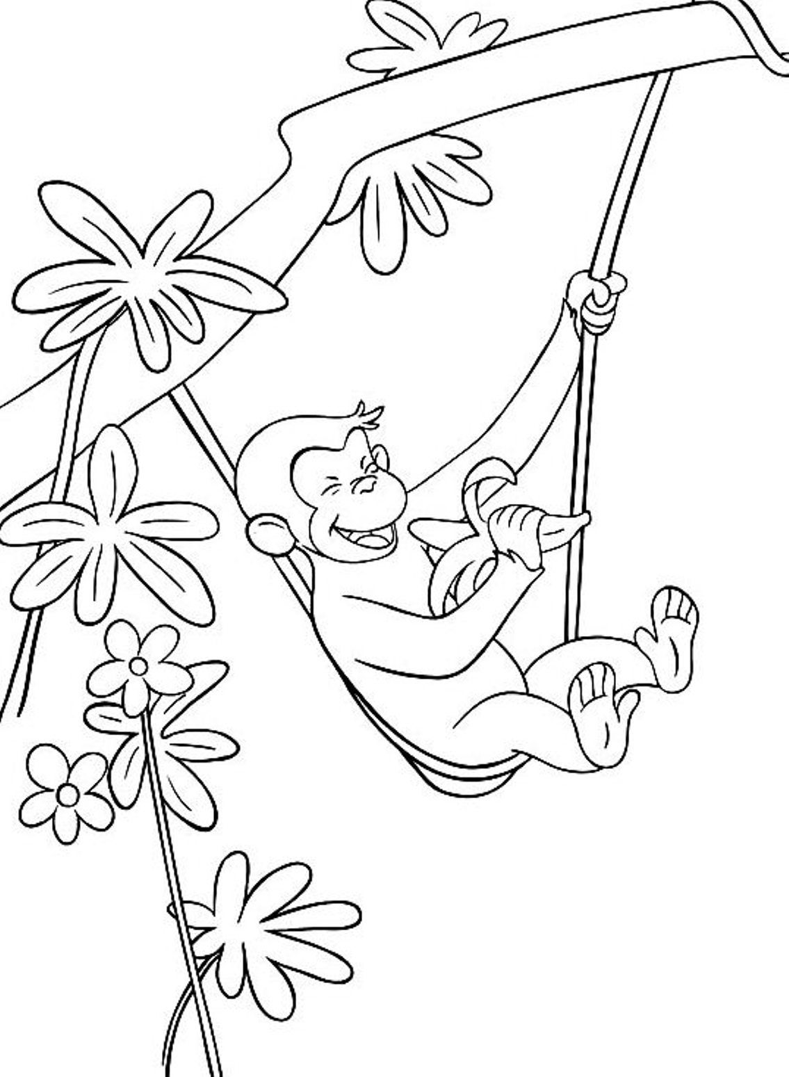 Quilling Ideas Curious George Coloring Pages Young Adults Free Colouring Mandala Monkeys School