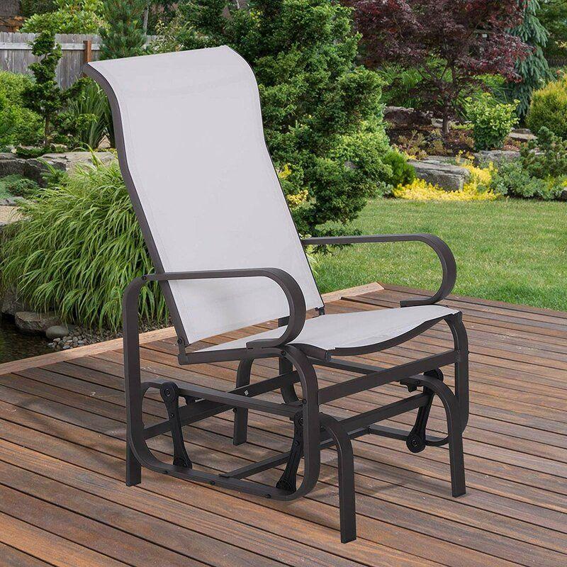 outdoor patio glider rocking chair