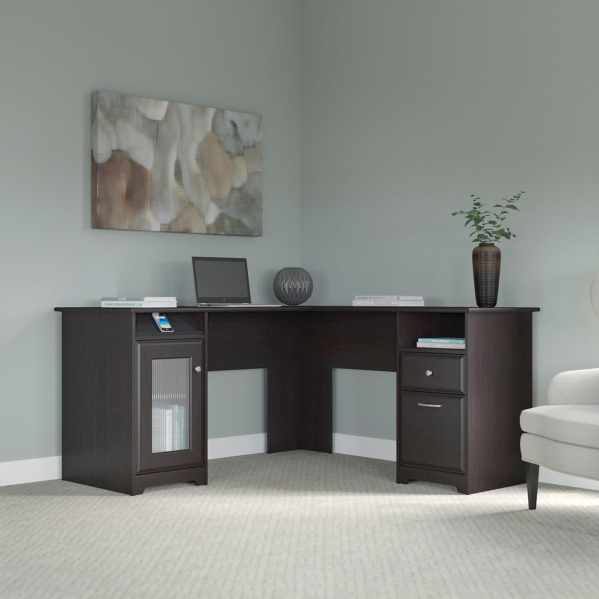 Bush Furniture, Cabot Collection, Office Furniture, Home Office, Desk,  Furniture,