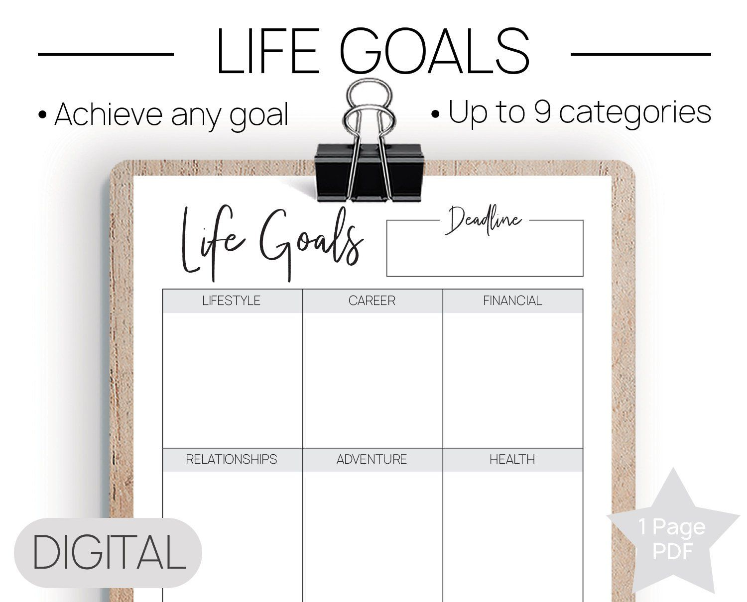 Printable Life Goals