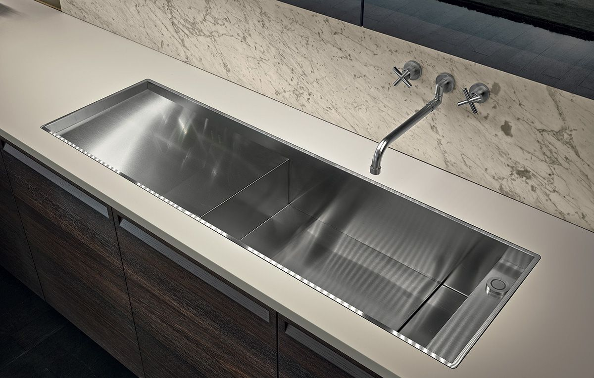 One Big Sink With Integrated Drain Board With Images Minimal