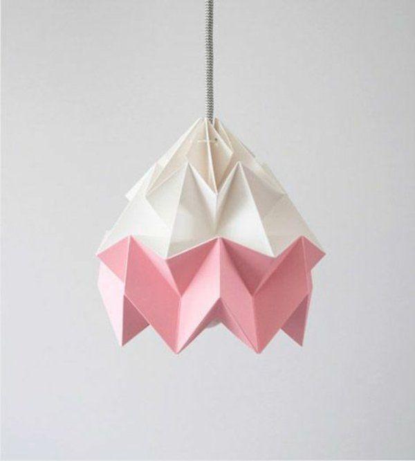 origami lampenschirm anleitung und tolle beispiele wohnzimmer pinterest origami lampshade. Black Bedroom Furniture Sets. Home Design Ideas