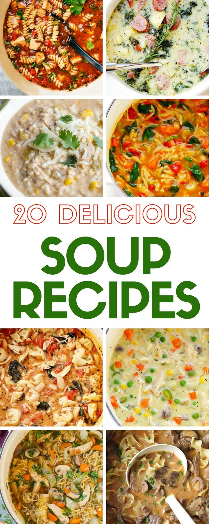20 Delicious Soup Recipes Soup Pinterest Diy Recipe Easy And