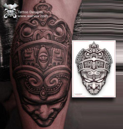 0105f9653 Aztec Warrior Tattoo Emperor design by WARVOX.COM | Tatt's | Aztec ...