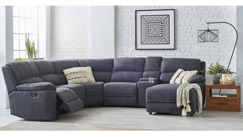 Stockholm 5 Seater Fabric Recliner Sofa With Chaise Reclining Sofa