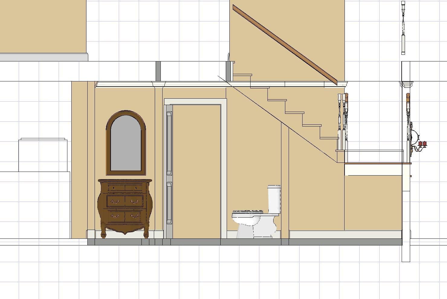 Bathroom Under Stairs Architectural
