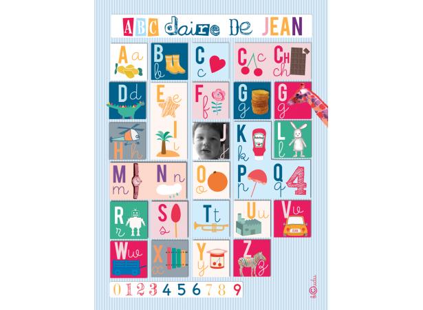 Abecedaire affiche personnalis avec la photo de votre for Chambre consulaire apprentissage