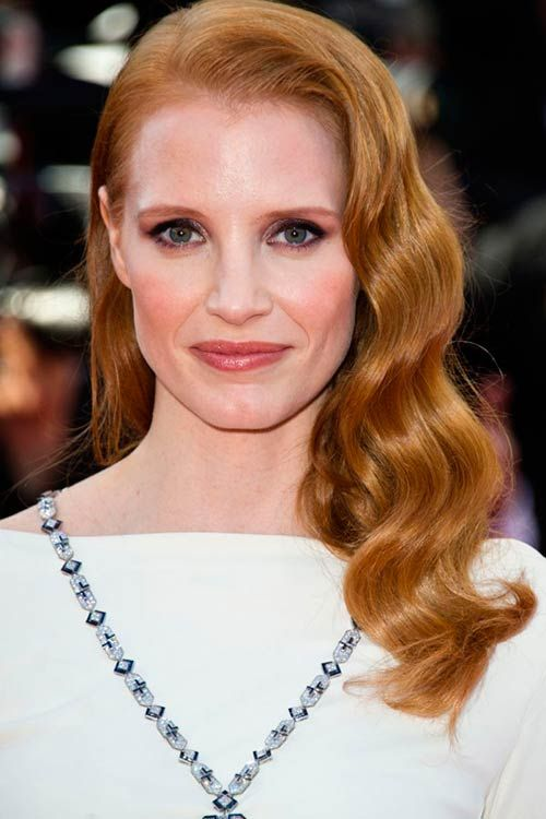 Gorgeous Curly Hairstyles For Those Special Days Jessica Chastain