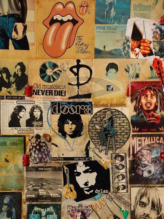 Long Live Rock N Roll Seni Jepang Seni Inspirasi Seni