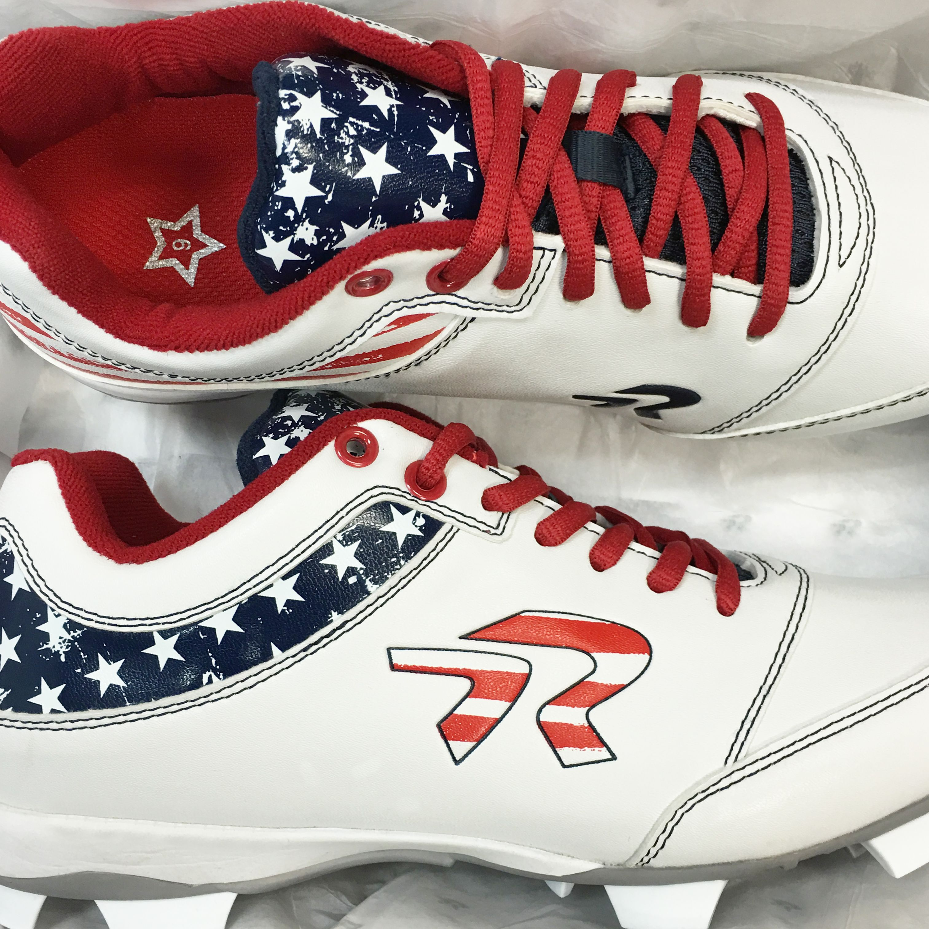 American Flag Cleats