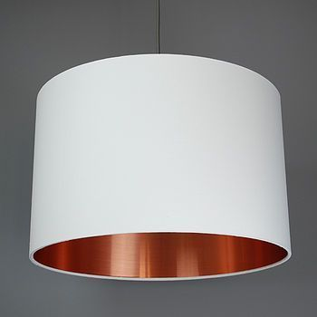 Brushed copper lamp shade choice of colours by quirk notonthehighstreet com