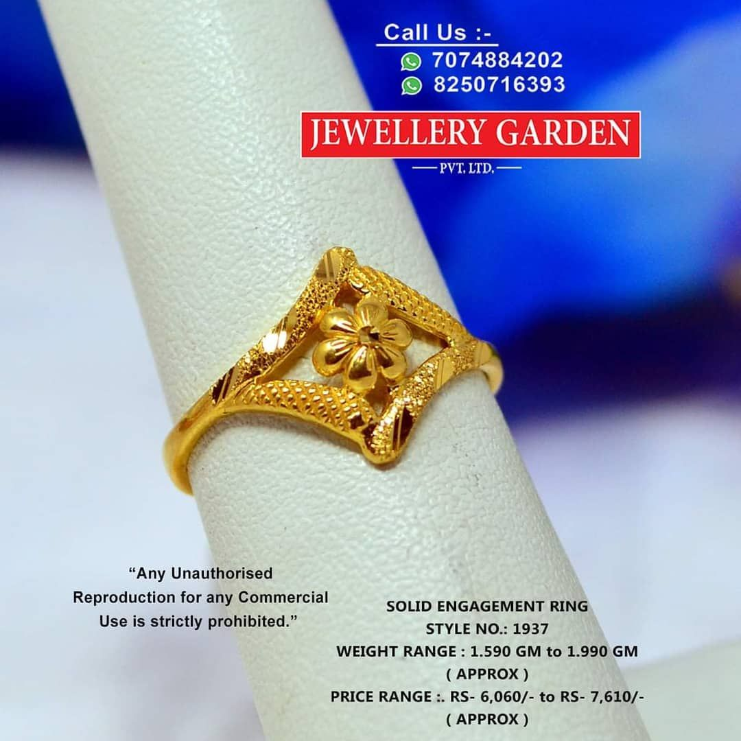 Instagram Post By Jewellery Garden Pvt Ltd Aug 31 2019 At 6 43am Utc In 2020 Gold Ring Designs Gold Rings Jewelry Gold Finger Rings