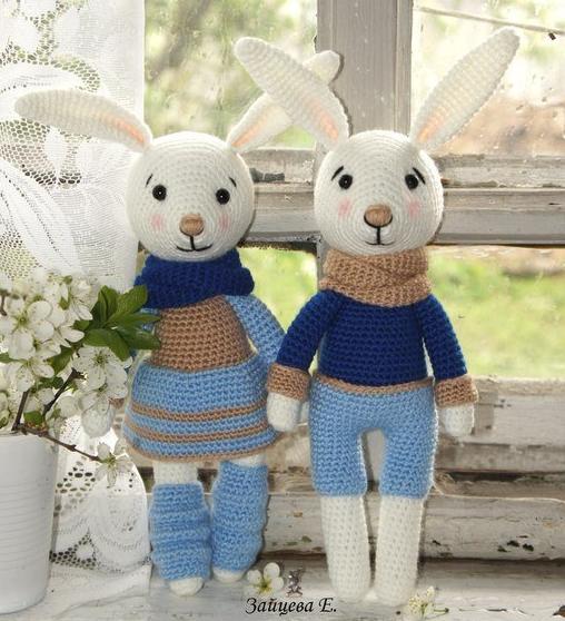 Örgü Oyuncak Tavşan 1 - Yeni çekim linki açıklamalarda ENGLISH ... | 558x508