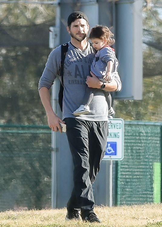 Ashton Kutcher Takes Wyatt To A New Orleans Playground With