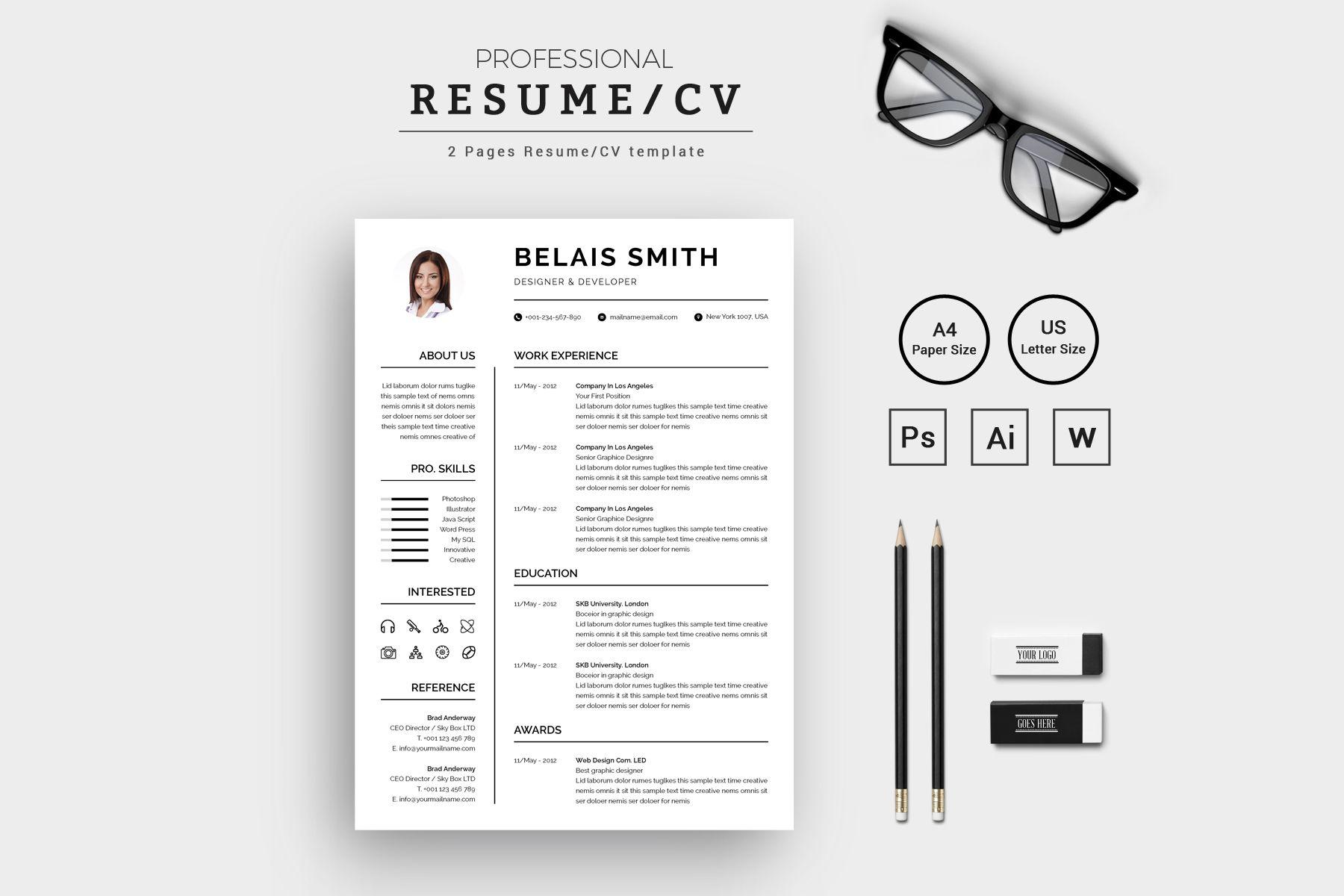 Belais smith designer developer resumecv resume