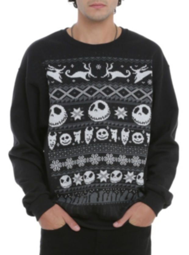 The Nightmare Before Christmas Fair Isle Crewneck Pullover ...