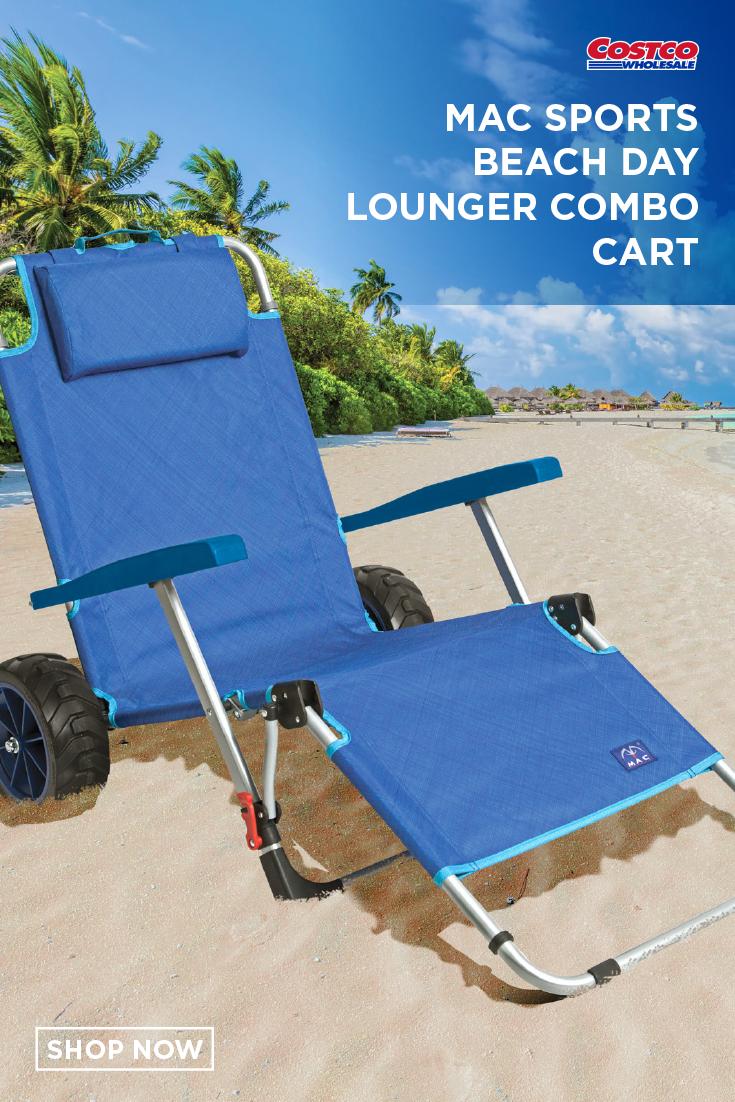 Mac Sports Beach Day Lounger Combo Cart Beach Day Beach Lounger