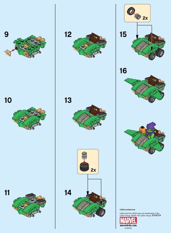 LEGO Mighty Micros: Spider-Man vs. Green Goblin Instructions 76064 ...