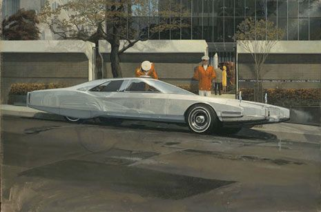 Сид Мид (Syd Mead): Future Rolls Royce, 1967 - Cover for Automobile Quarterly Magazine