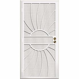 Gatehouse Sunburst White Steel Surface Mount Single Security Door (Common:  32 In X 81 In; Actual: 35 In X 81.75 In) 9182