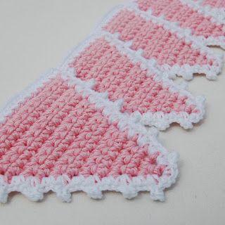 Haak Maak Babyroze Slinger Haken Crochet Granny Squares And