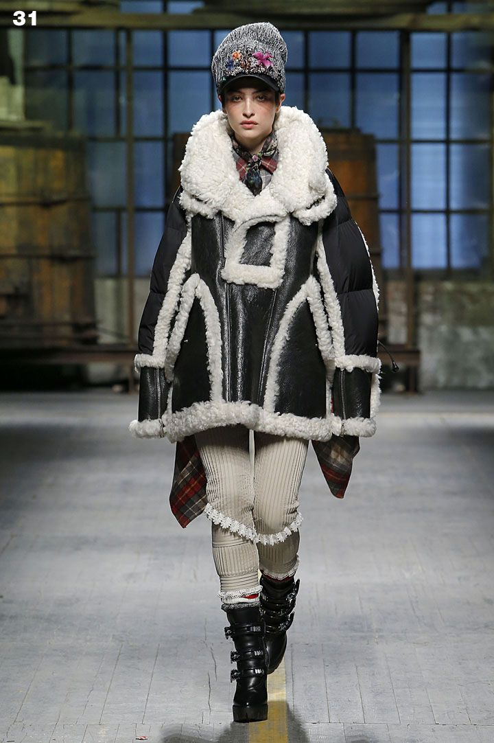 @dsquared2  Fall Winter 2017 Show - Look 31. #D2GETHER #Dsquared2 #FW17 #MFW #Womenswear #Menswear
