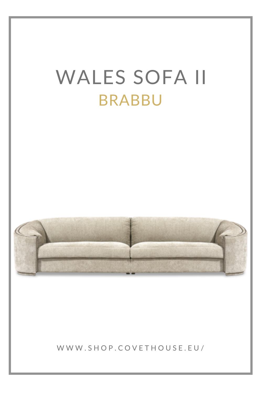 Sofa, Curved Sofa, Nailhead Trim