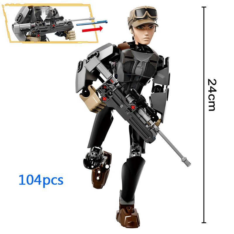 Star Wars Buildable Action Figure Model Building Blocks