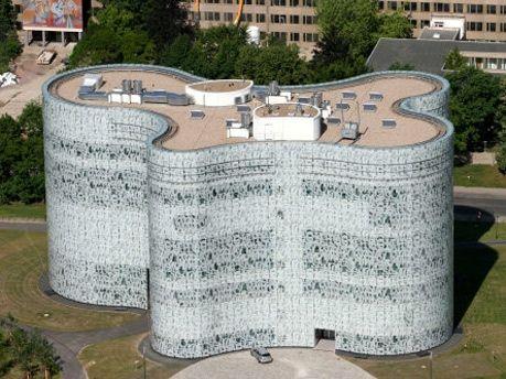Medienzentrum IKMZ, Cottbus, Germany. By Herzog & de Meuron. Completed in 2004.