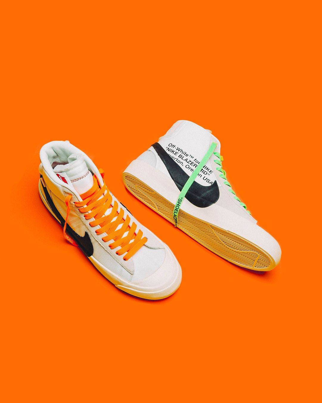 OFF WHITE x NIKE BLAZER MID | Sneakers men fashion, Stylish