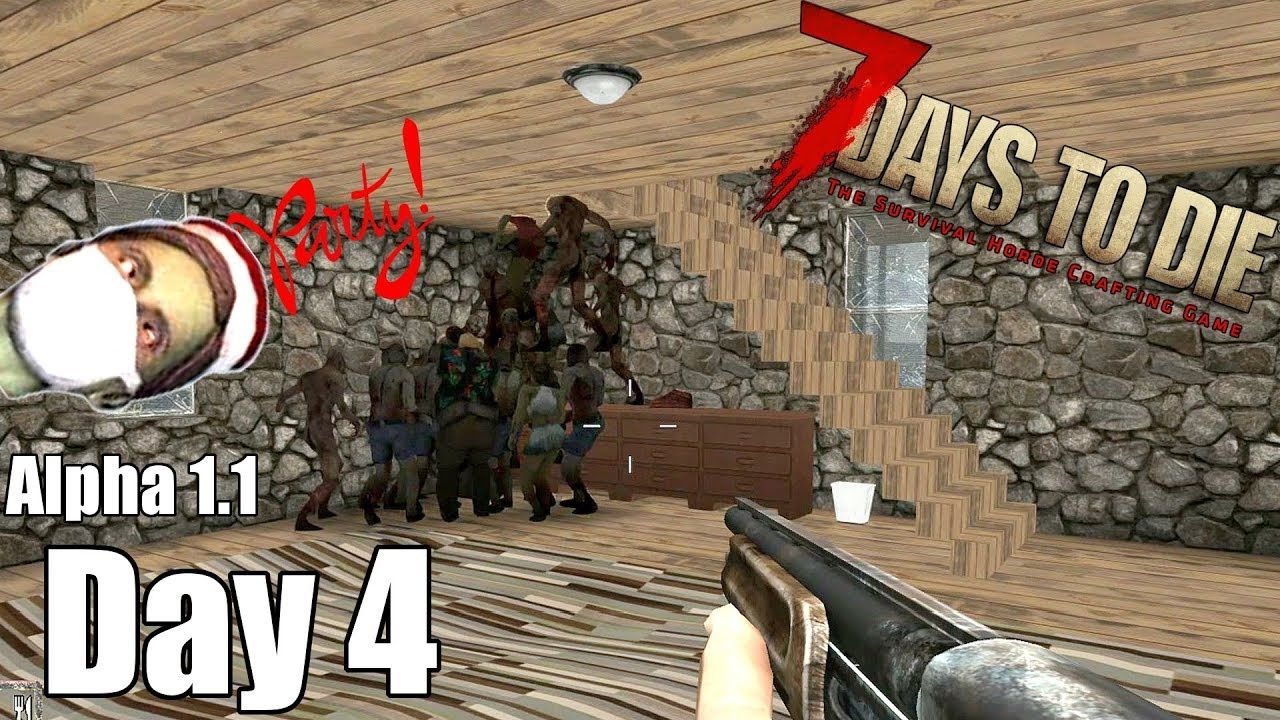 7 Days To Die Alpha 1 1 Revisited Day 4 Secret Zombie