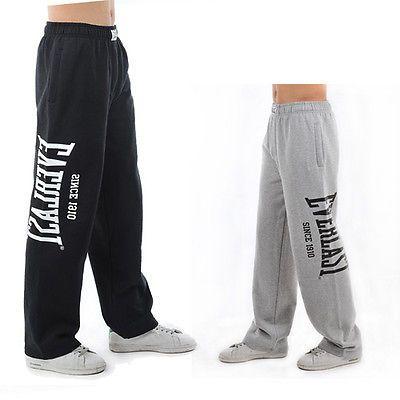 f06157b7ba Details about Everlast Men Gym Track Pants Tracksuit Fleece Jogging ...