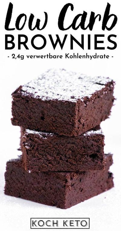 Leckere Keto Schoko Brownies