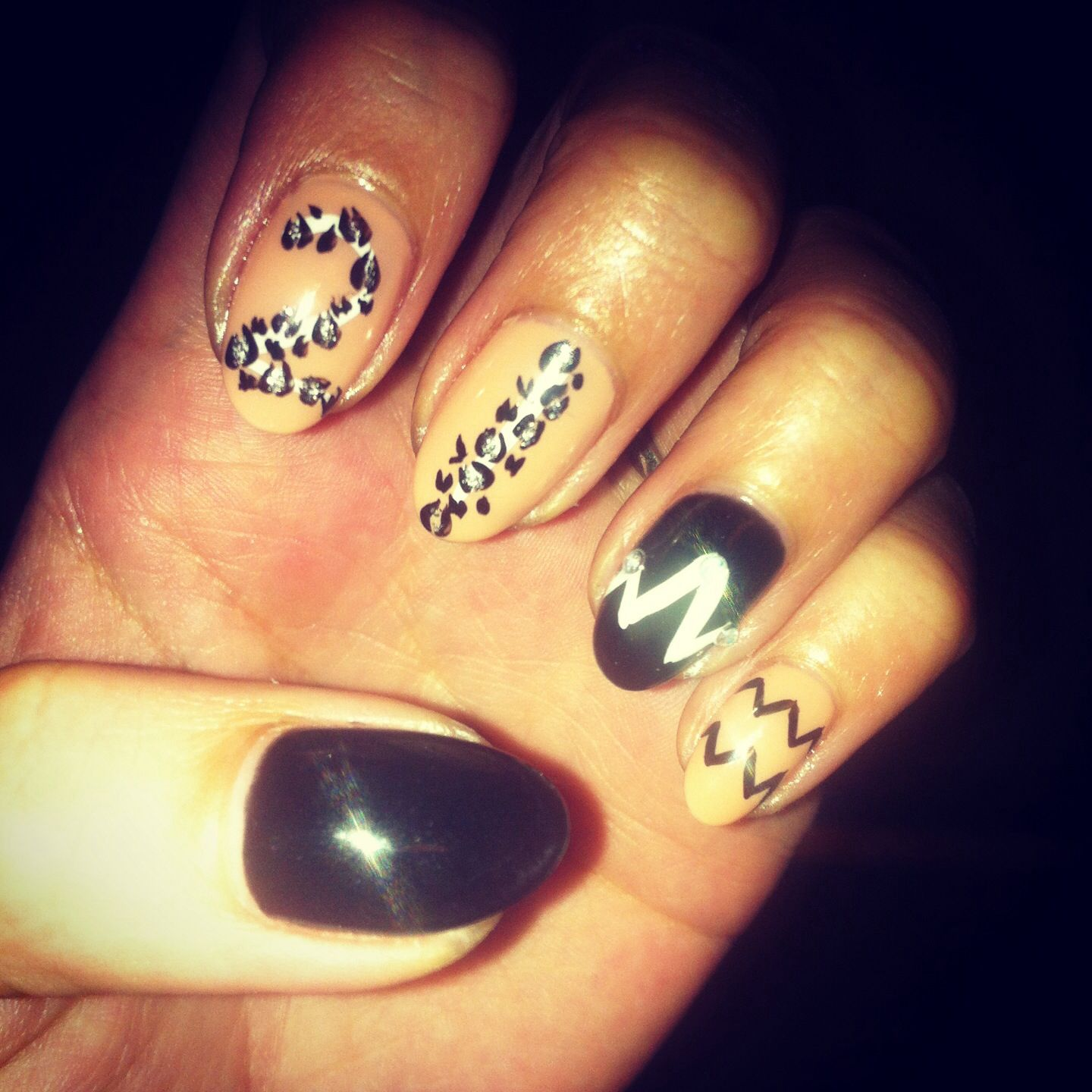 My 21st birthday nail designs. Loved my cheetah print with my number ...