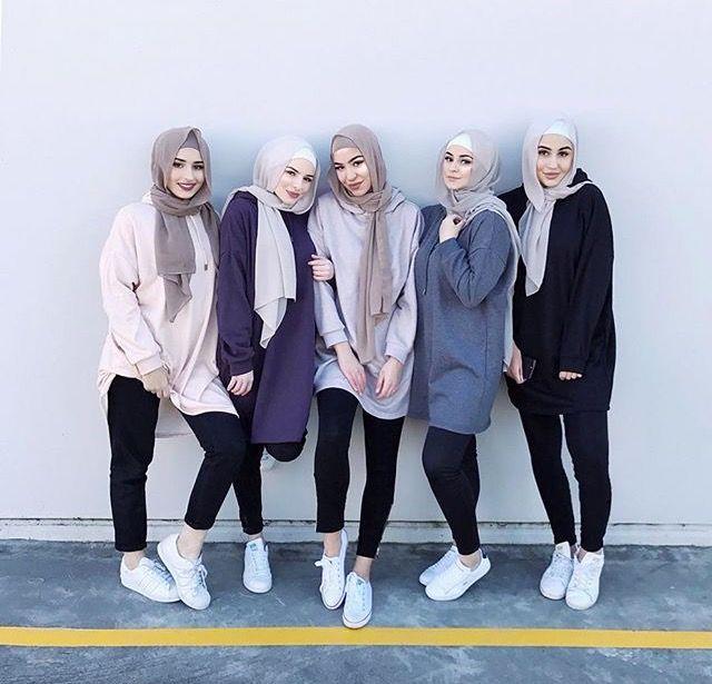 Baju Couple Sahabat Perempuan Hijab