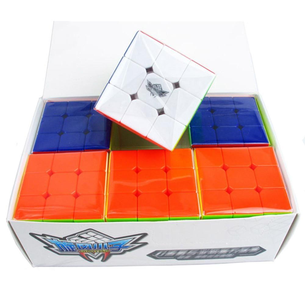 6 Pcs/Box Cyclone Boy Feiwu Stickerless 3x3x3 Magic Cube Speed Puzzle Game  Cubes Educational