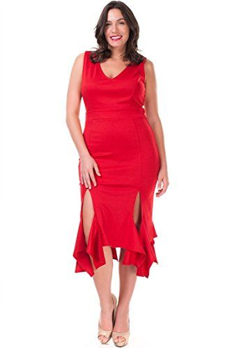Plus Size Flirty Salsa Dress Perfect For Dancing Red Galaxy