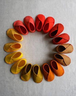 Felt·Baby·Shoes~Zapatos·Bebé·Fieltro II