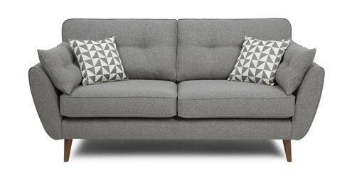 zinc 3 seater sofa zinc dfs home extension kitchen. Black Bedroom Furniture Sets. Home Design Ideas
