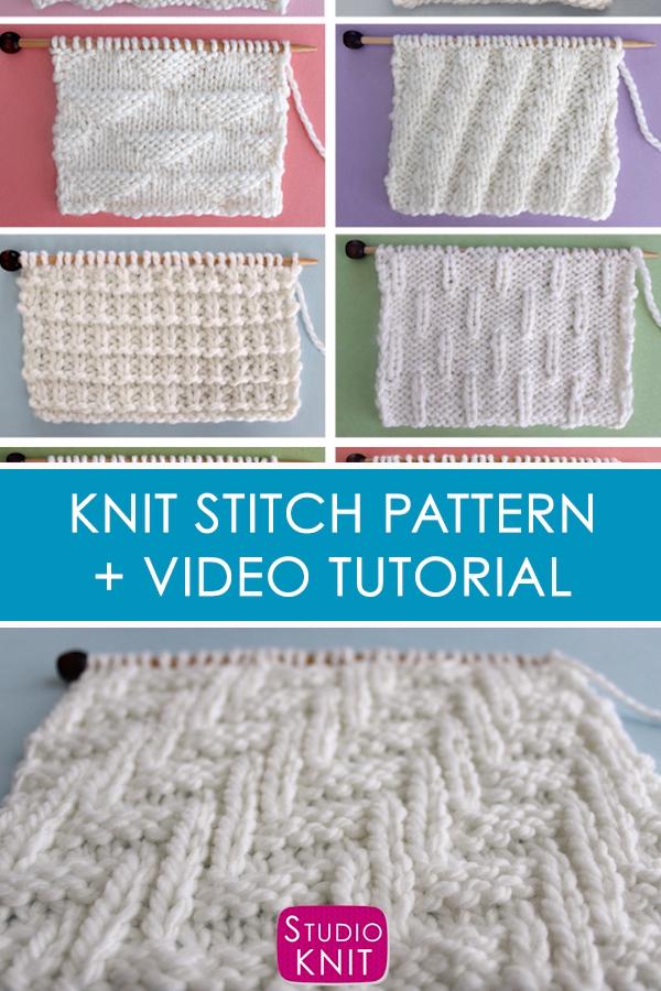 Photo of Diagonal Chevron Zigzag Stitch Knitting Pattern