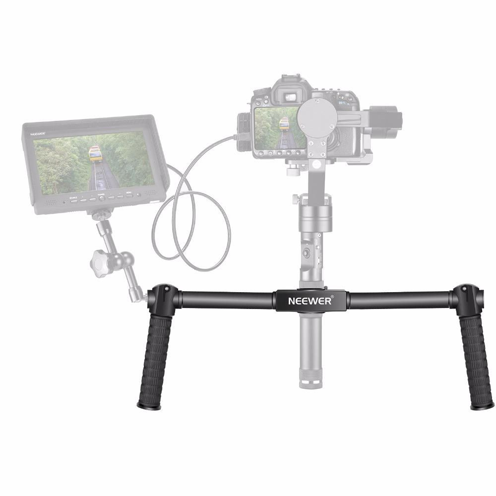 Neewer Dual Handheld Grip For Zhiyun Crane M 3 Axis Tripod Pole 3axis Smooth Q Stabilizer 15 Ft