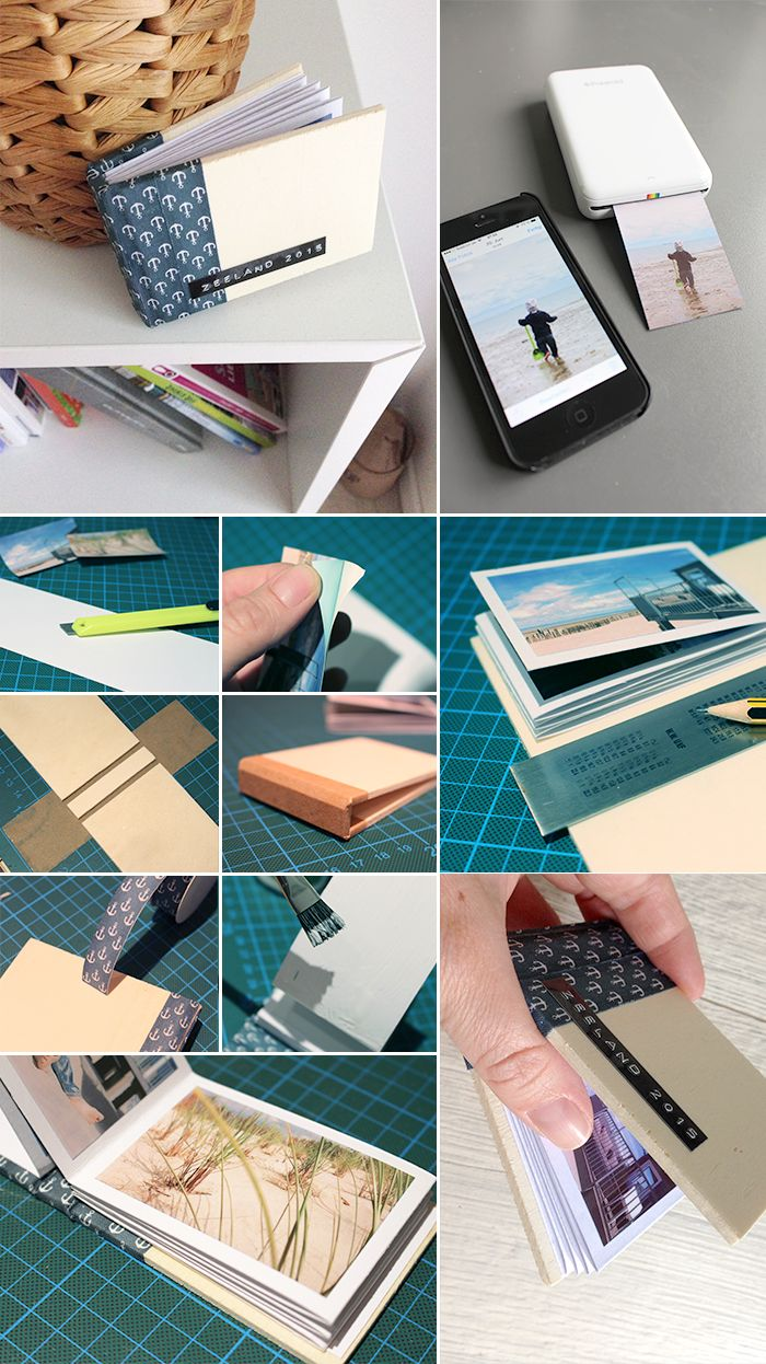 Gingered Things, DIY, photo, book, wood, polaroid zip, Fotobuch, Holz, Polaroid